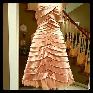 BCBG MAXAZRIA strapless layered dress